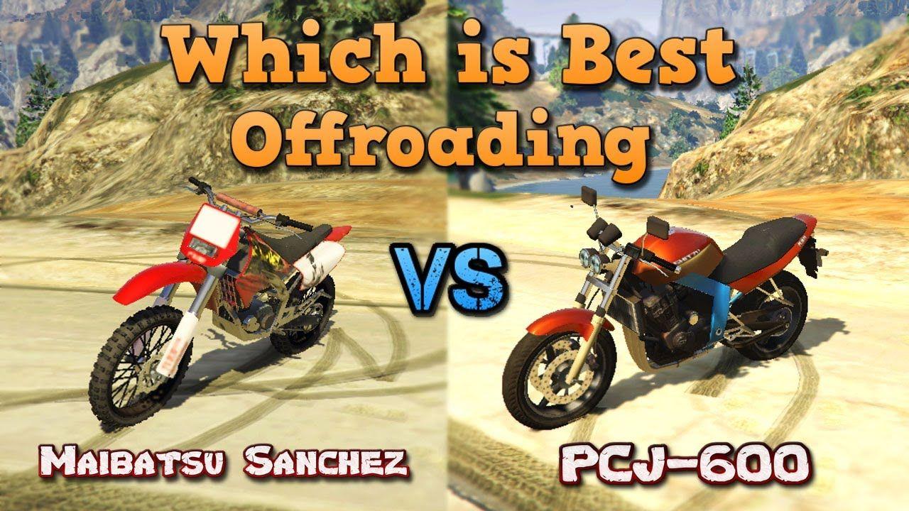 Which Is Best Offroading Maibatsu Sancahz Vs Pcj 600 Gta5 Bike