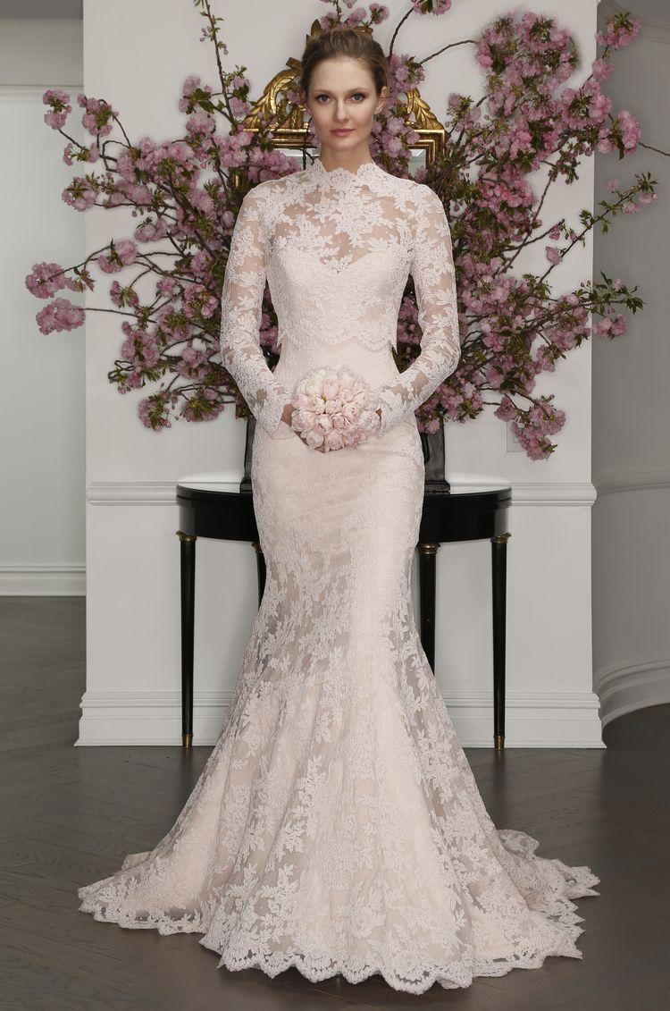 Pin By J Faz On Wedding In 2020 Trumpet Wedding Dress Lace Spring 2017 Wedding Dresses Bridal Dresses