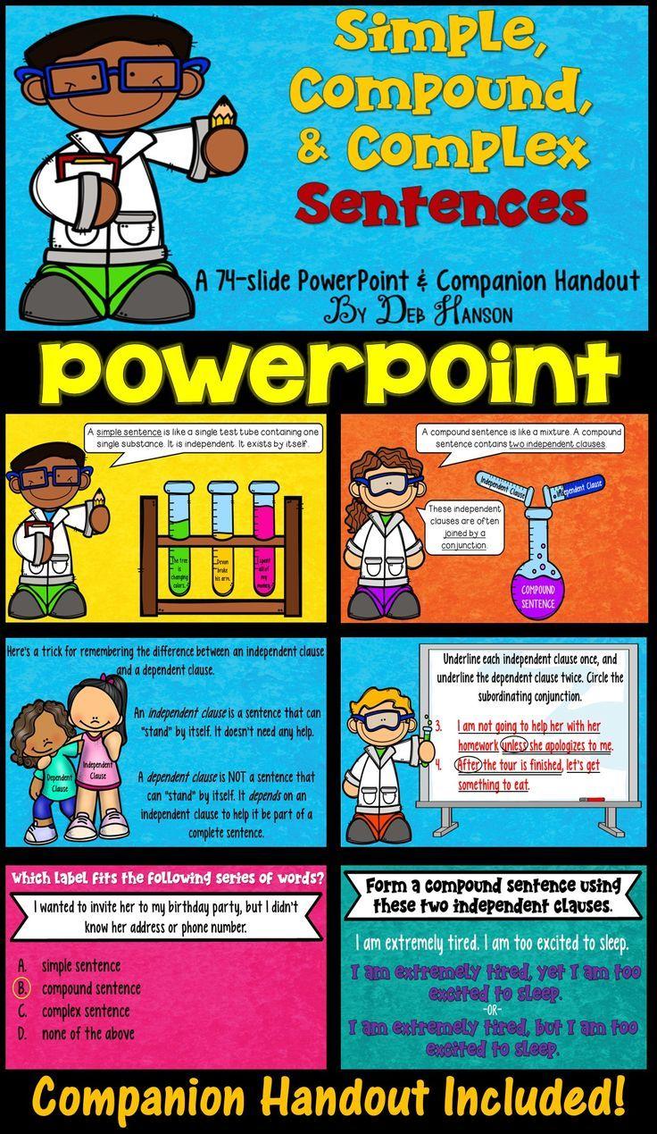 Simple Compound And Complex Sentences Powerpoint Complex