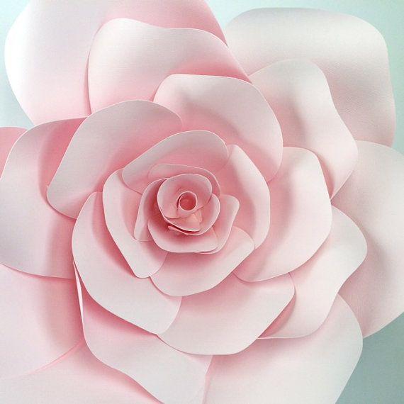 Modello di fiore di carta parete del fiore di carta di - Modello di base del fiore ...