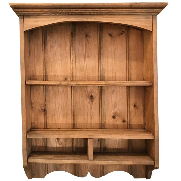 French Pine Wall Shelf For Sale