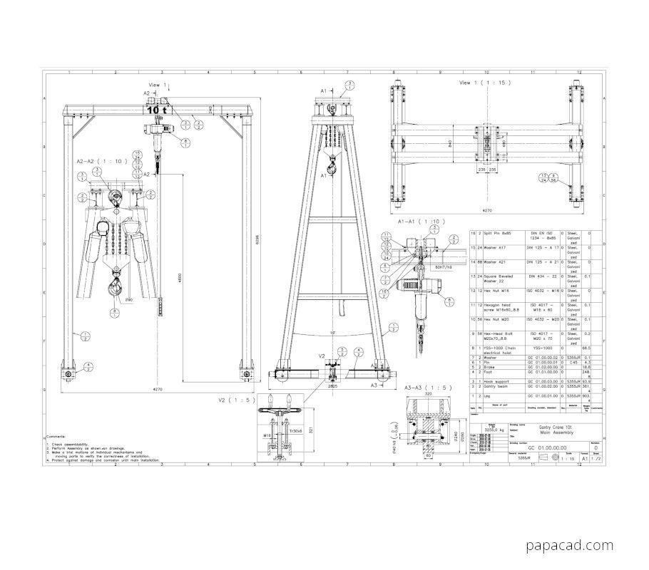 Gantry crane plans download diy gantry crane drawings in