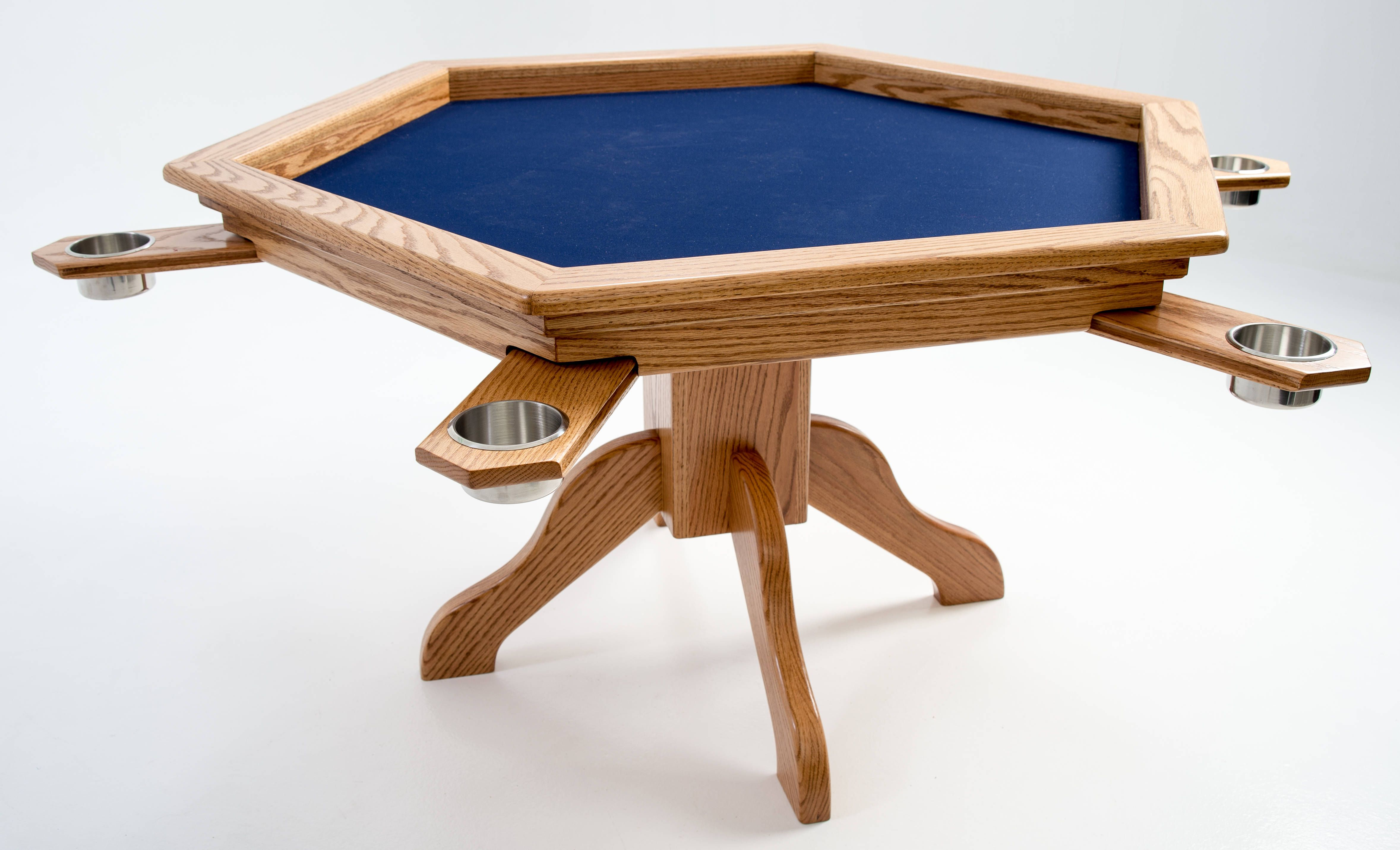 The hexagon table from BoardGameTables Game Room