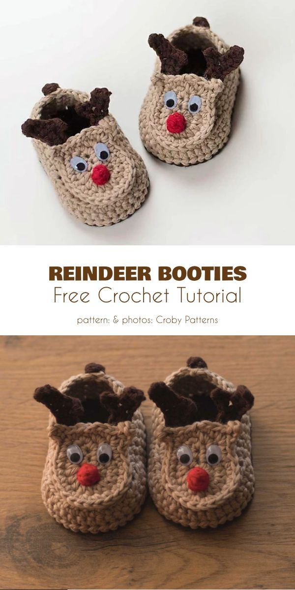 Cute Animal Baby Booties Free Crochet Patterns #booties
