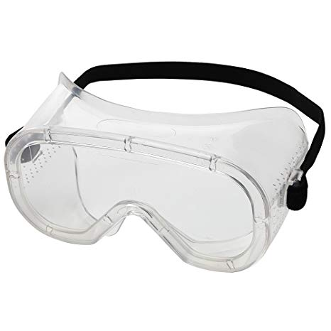 Sellstrom S81000 Advantage Series Direct Vent Protective Safety Goggle Clear Body Clear Uncoated Lens Bla Polycarbonate Lenses Protective Goggles Goggles