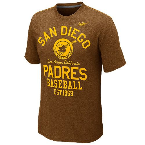 cf710bfbe41 San Diego Padres Cooperstown Vintage T-Shirt by Nike | Men's Game ...