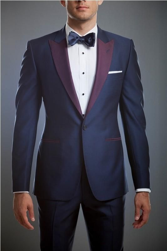 Blue-Grooms-Tuxedos-Purple-Peaked-Lapel-Mens-Suits-For-Prom-Two ...