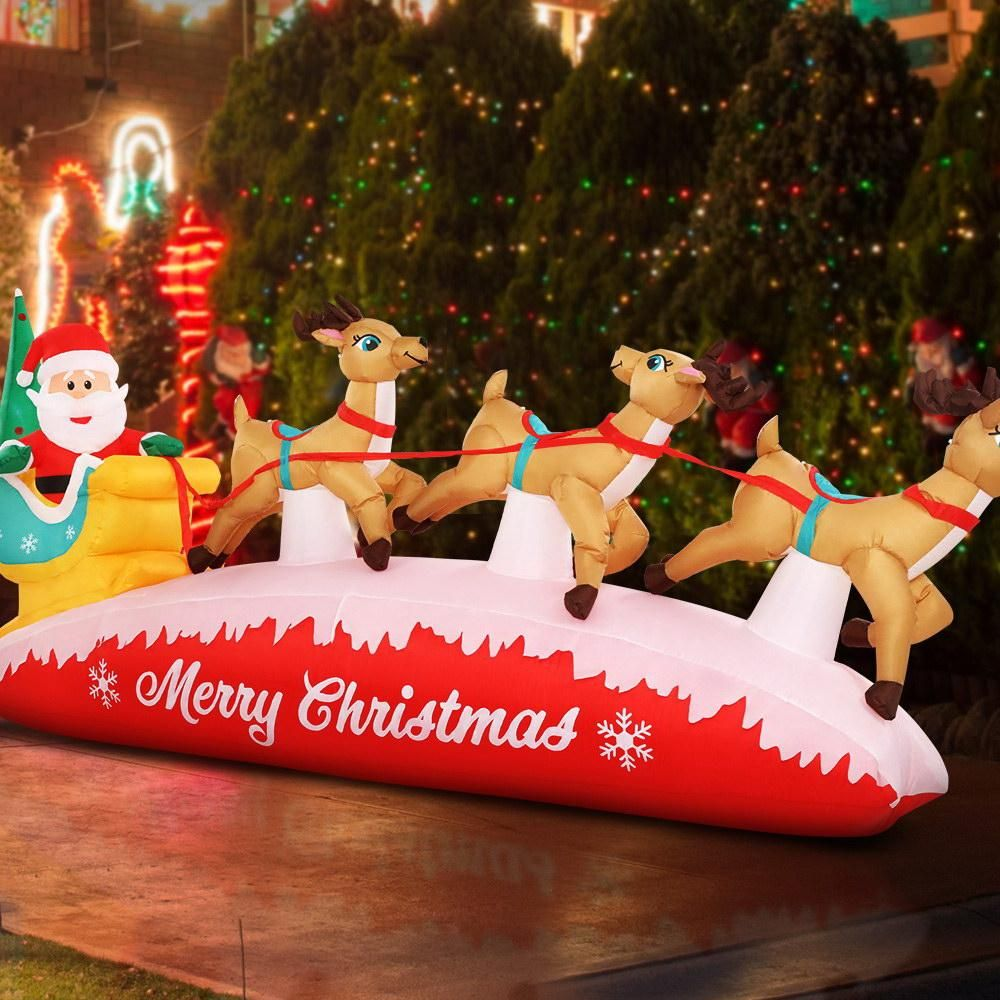 Inflatable airplane christmas decorations for roof