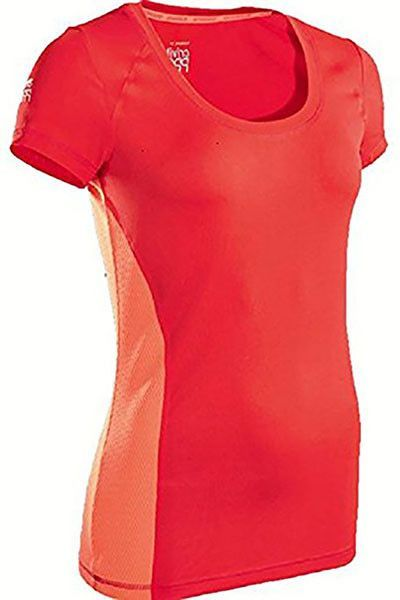 Crivit Pro Women's Sport Running Exercise Fitness Activewear Shirts Coral