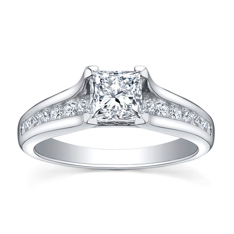 amazing diamond wedding bands for her with 136ct diamond 18k white gold engagement rings - White Gold Wedding Rings For Her
