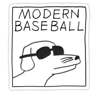 Modern Baseball Sticker Baseball Sticker Stickers Vinyl Decal Stickers