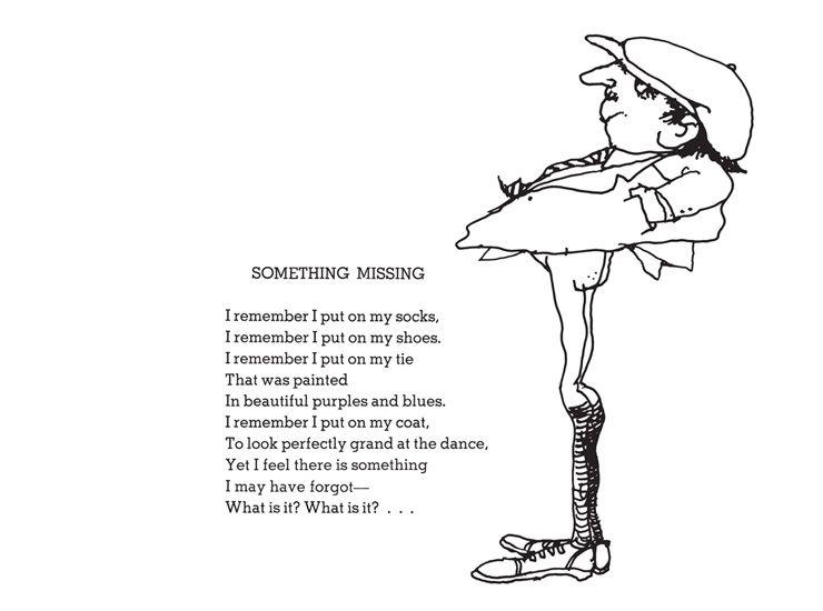 Shel Silverstein Poems About Love: Shel Silverstein - Something Missing (740×550)