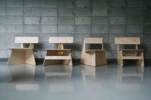The Seungji Mun 'Four Brothers' Chairs Come From One Slice of Wood #ecofriendly #homedecor trendhunter.com