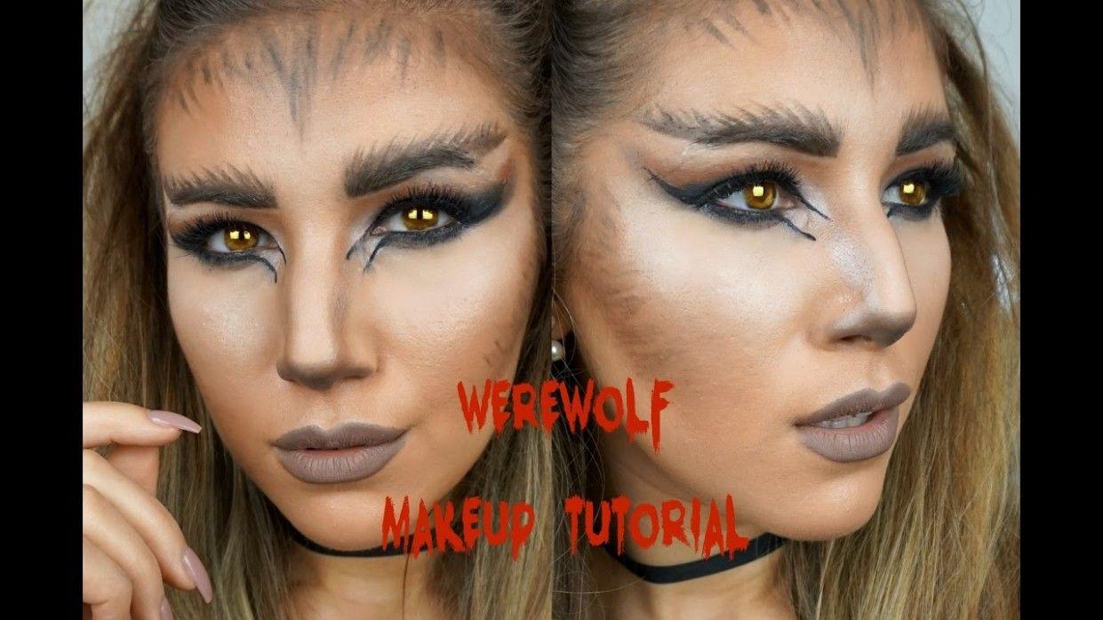 Female Werewolf Hairstyle In 2020 Werewolf Makeup Female Werewolves Cute Halloween Makeup