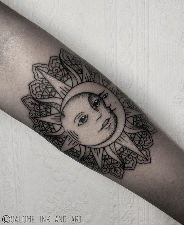 Pin By Christine Jarmer On Tats I Like: I Like The Sun Inside Of The Mandala. Without The Creepy