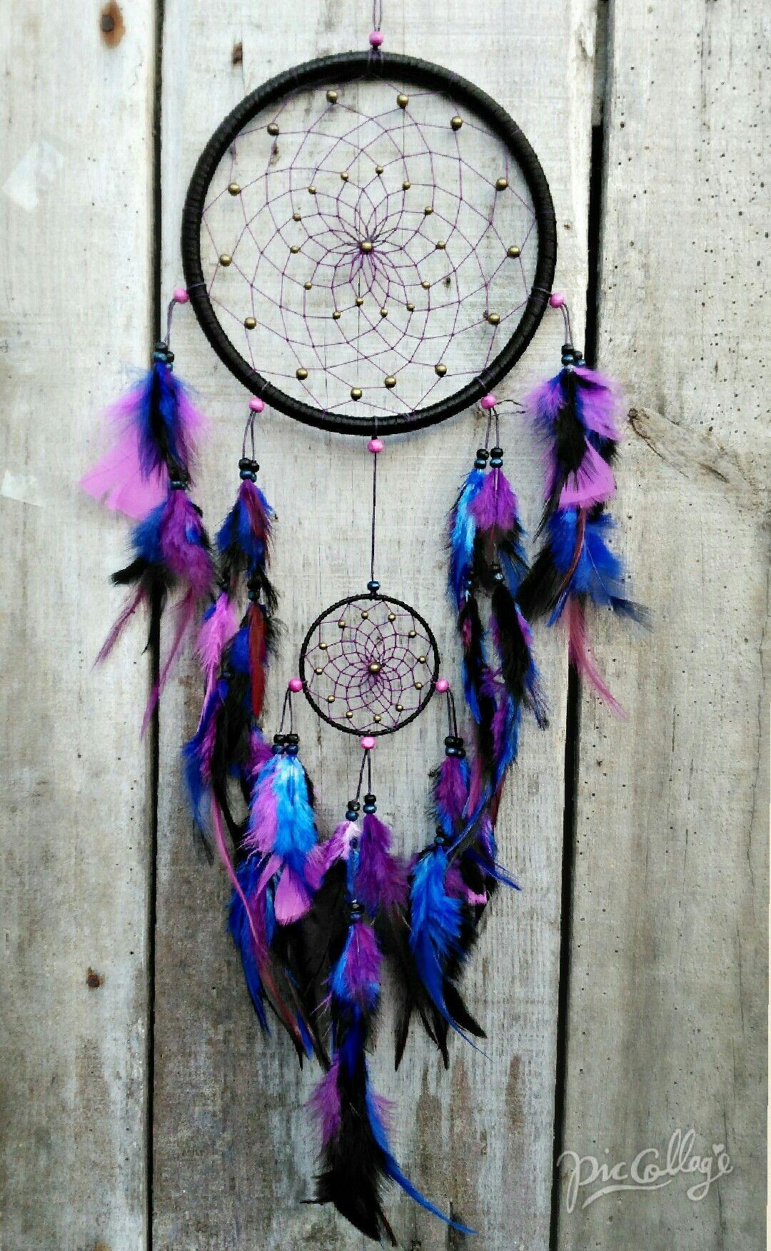 Black Blue Amp Purple Dreamcatcher Blue Dream Catcher