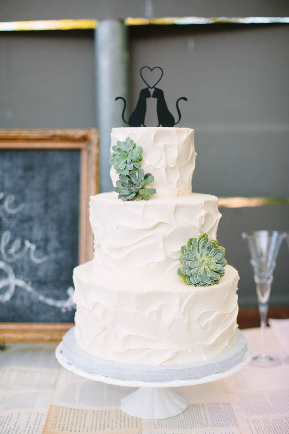 Custom Wedding Cake White Whipped Texture Succulent Sugarbeesweets