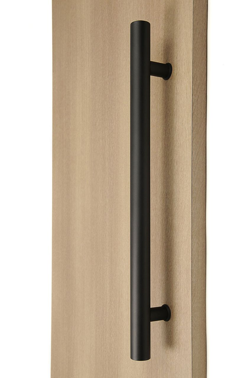 Ladder Pull Handle Back To Back Black Powder Stainless Steel