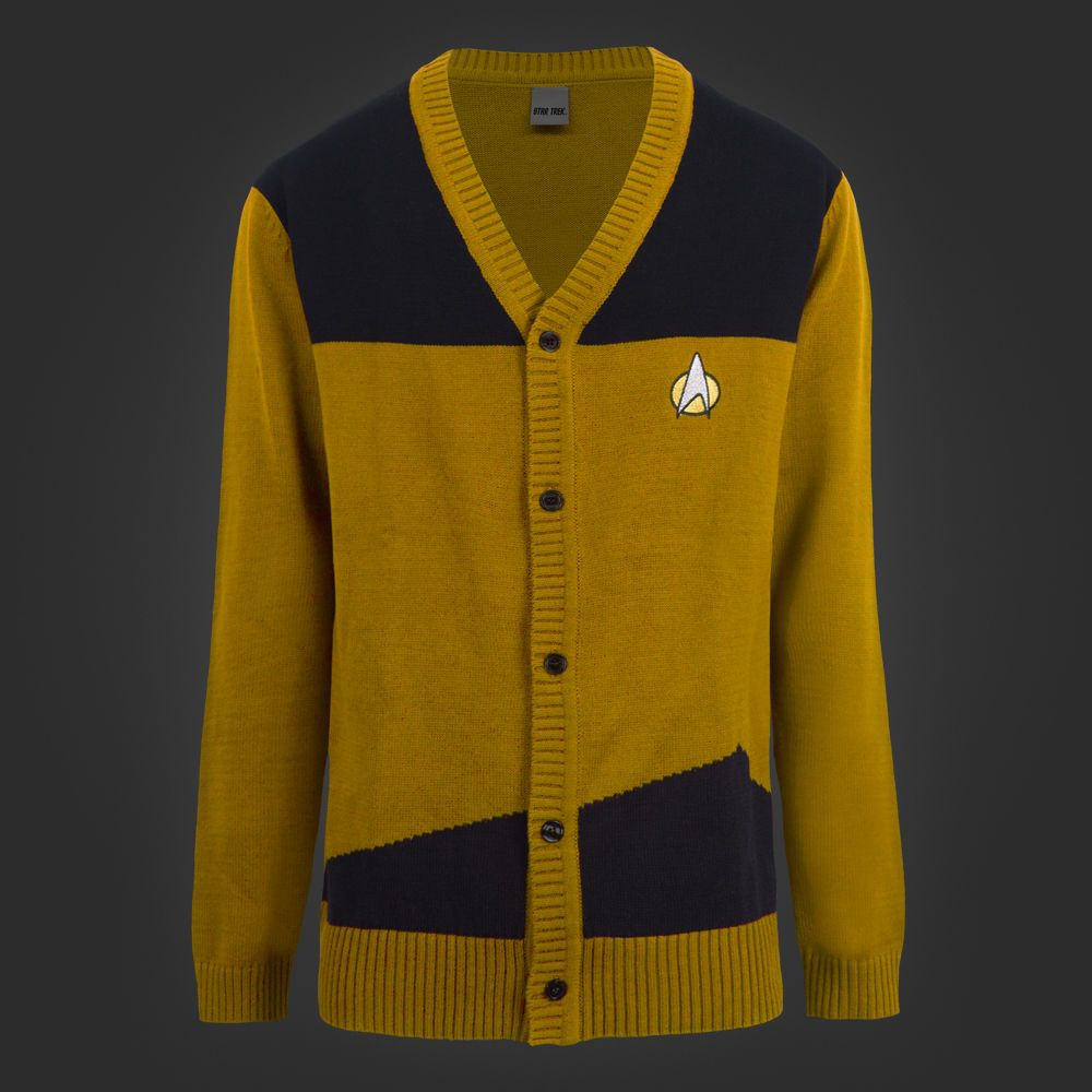 Star Trek StarFleet Officer Licensed Button Up Cardigan Sweater ...