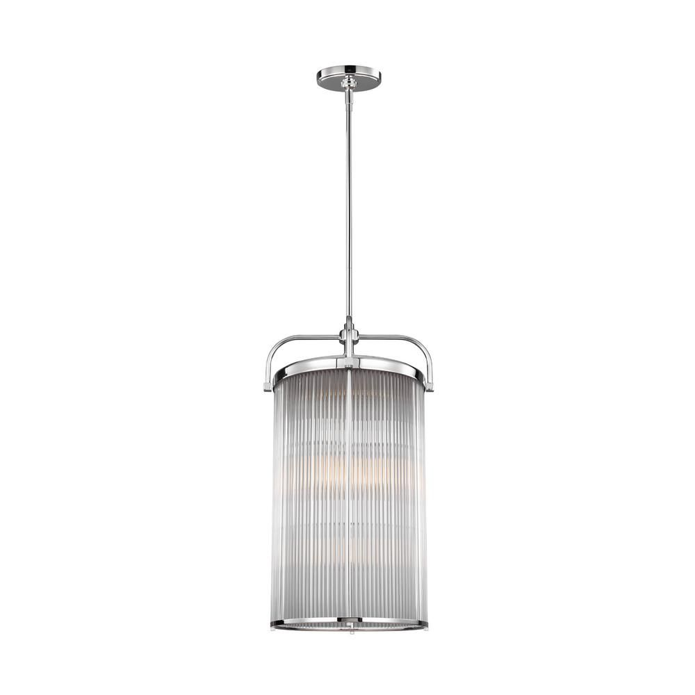 Feiss Paulson 1-Light Chrome Chandelier