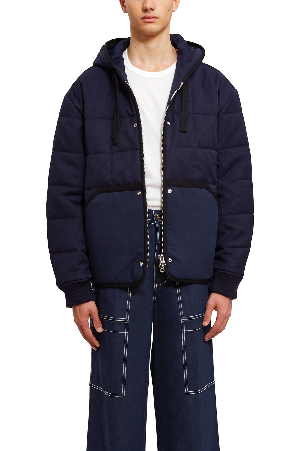 Acne Studios Quilted Puffer Jacket The Dark Blue Quilted Jacket Is Crafted With A Curved Hem And Herringbone Tape Quilted Puffer Jacket Puffer Jackets Jackets