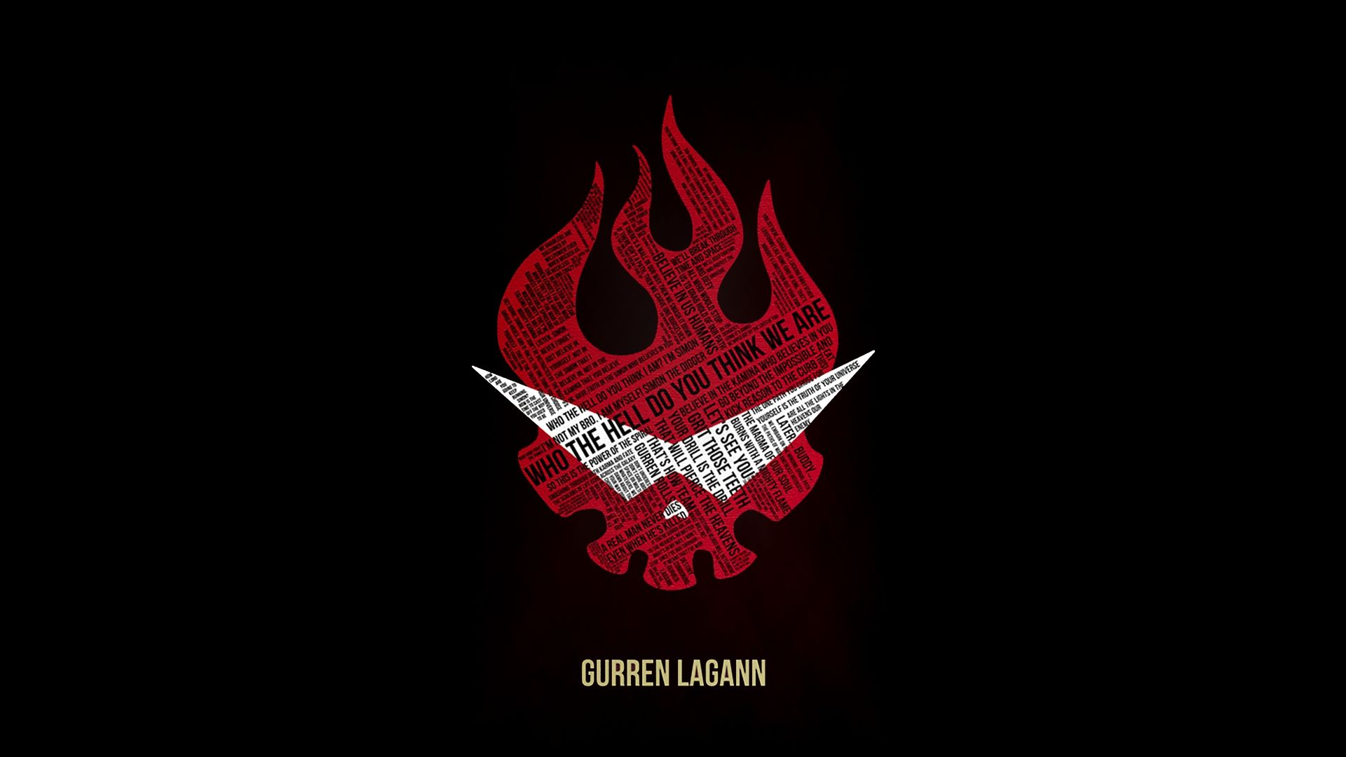 Most Viewed Symbol Wallpapers: 10 Most Popular Gurren Lagann Logo Wallpaper FULL HD 1080p