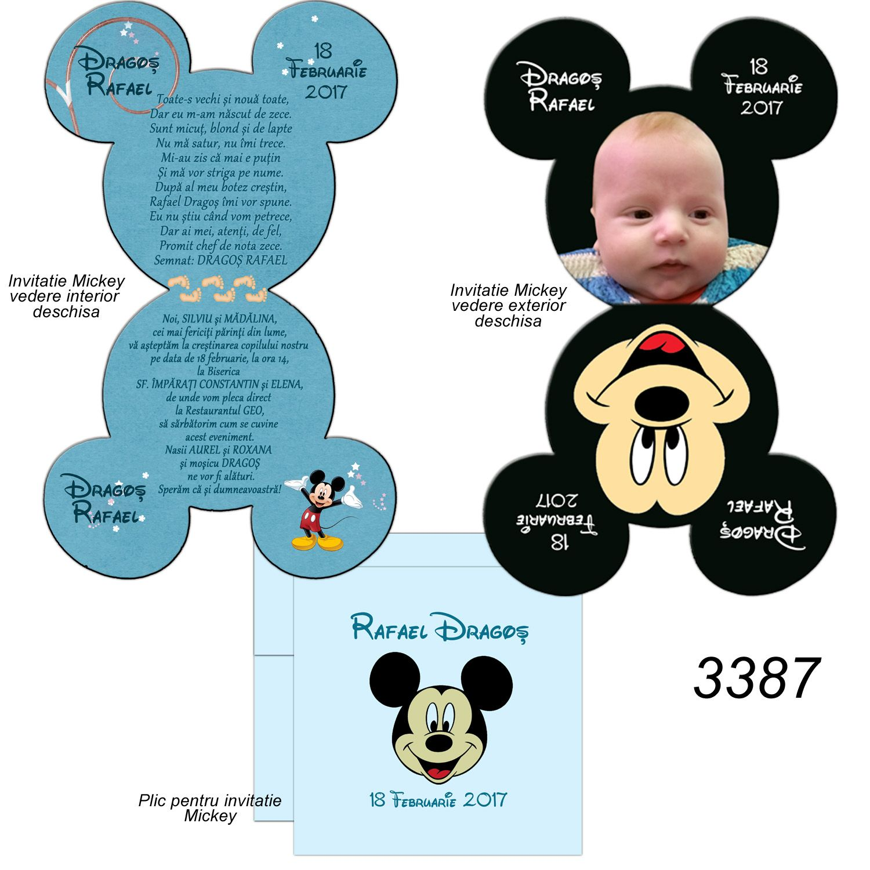 Invitatii Botez Minnie Mickey Mouse Template 6 Mickey Minnie
