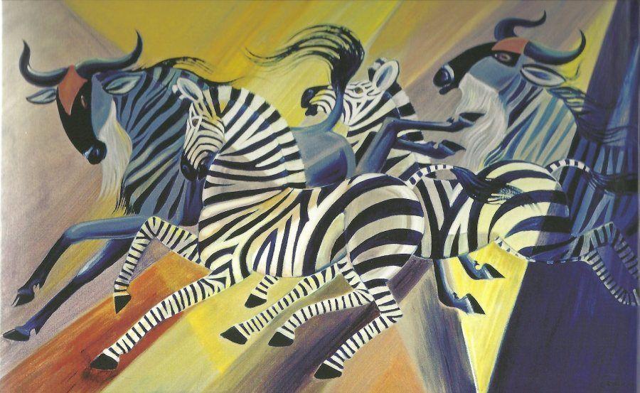 dahlov ipcar, wildebeest