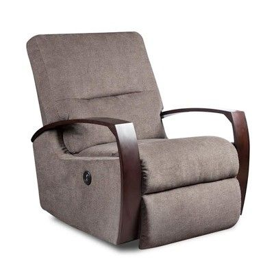 Wood Arm Rocker Recliner Southern Motion Contemporary Recliners