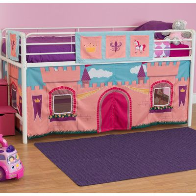 Dhp Princess Castle Curtain Set For Junior Loft Bed Junior Loft Beds Loft Bed Beautiful Curtains