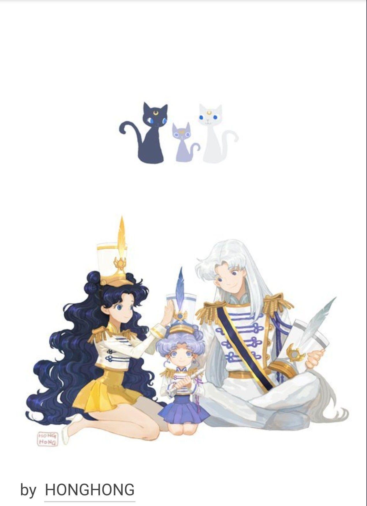 Luna Artemis And Diana Sailor Moon Sailor Moon
