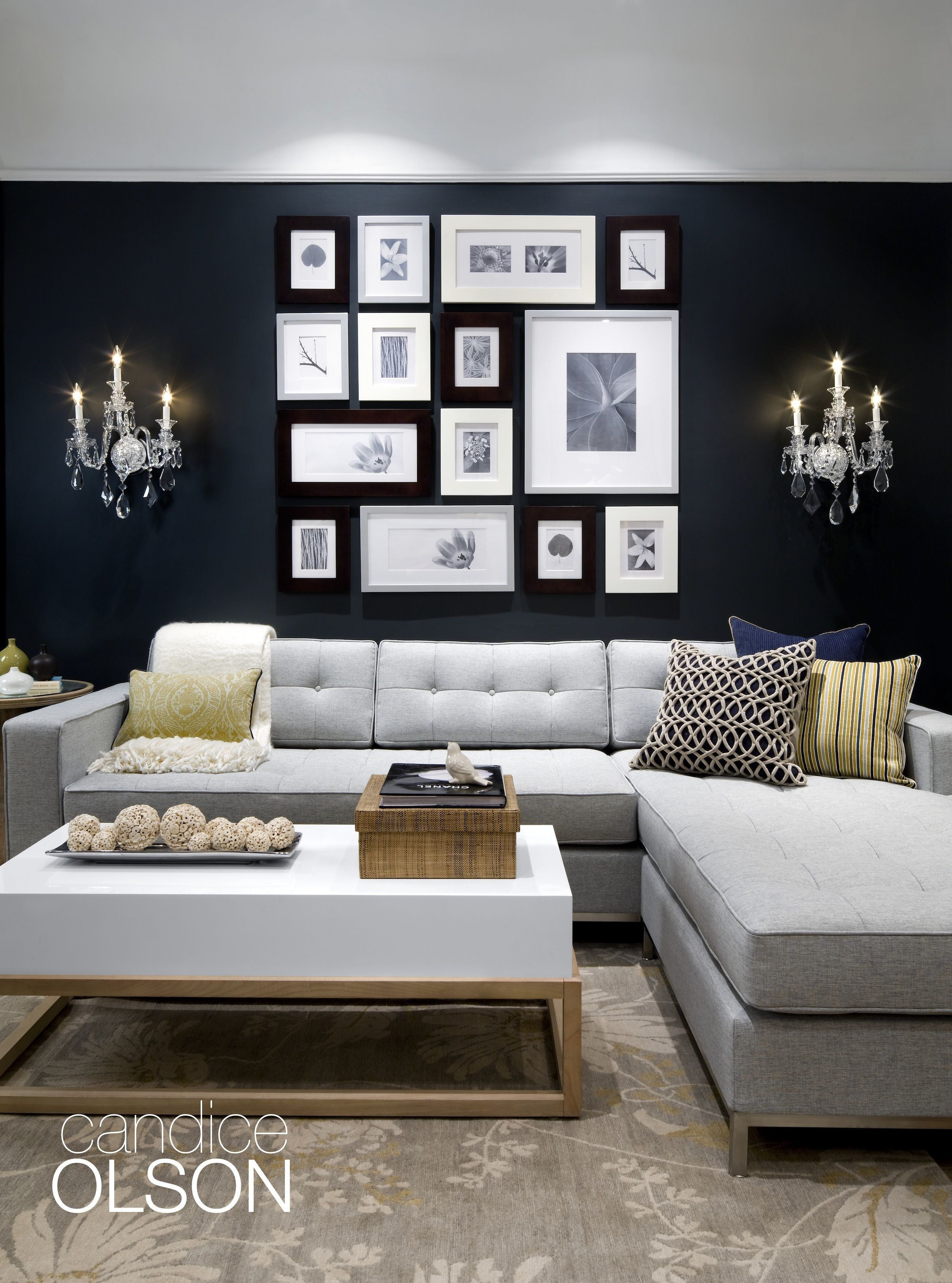 Candice Olson Living Room Furniture: BLACK INK ROOM: When Using A Saturated Hue Like Benjamin