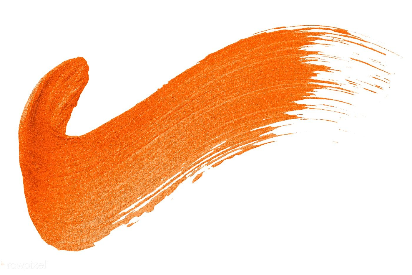Tick mark shimmery orange brush stroke free image by