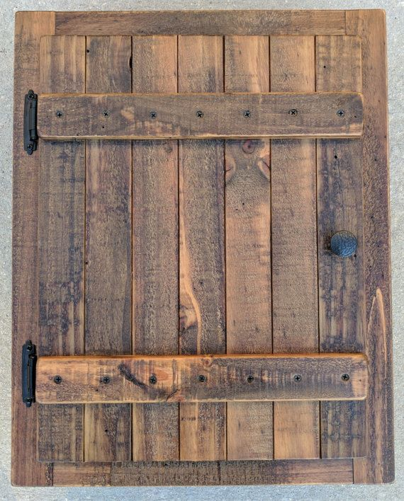 Recessed Wall Cabinet Made From Rustic Reclaimed By
