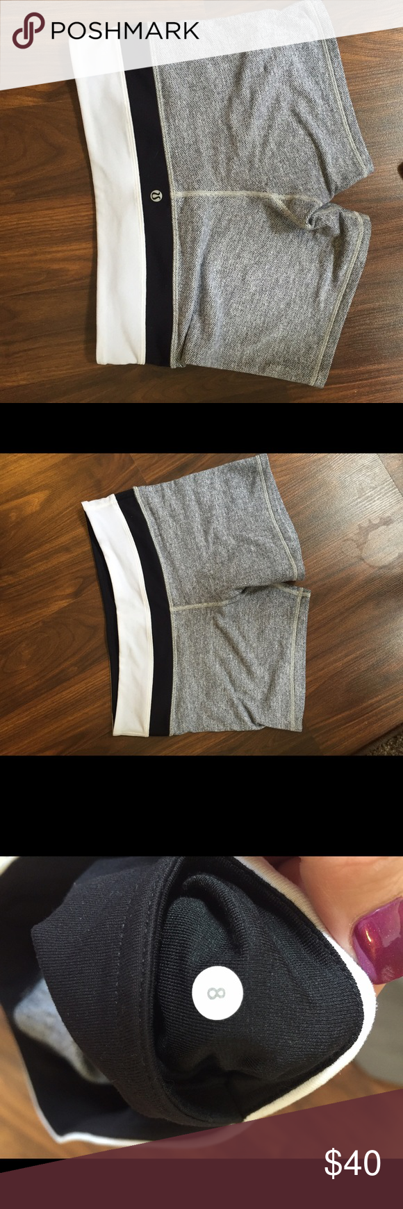 Lululemon Groove Short size 8 Size 8. Smoke free home. Too big for me now. Spandex like material lululemon athletica Shorts