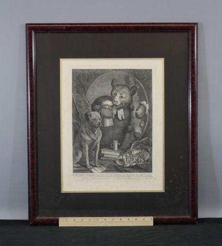 1822 Antique 1822 William Hogarth Bear & Dog Engraving The Brusier C Churchill https://t.co/gMJZdmsiri https://t.co/OFccqj3OuD