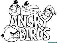 Gambar Mewarnai Angry Birds Menuju Kawanan Babi Gambar Mewarnai
