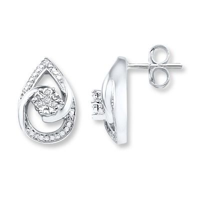 0e735cc27 Give the gift of elegance this Mother's Day with these gorgeous diamond  accent teardrop earrings.