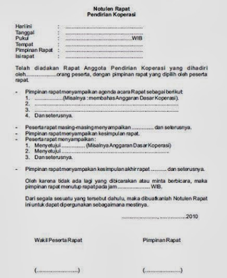 Contoh Notulen Rapat Sekolah Pkbm Sekar Arum Personalized Items