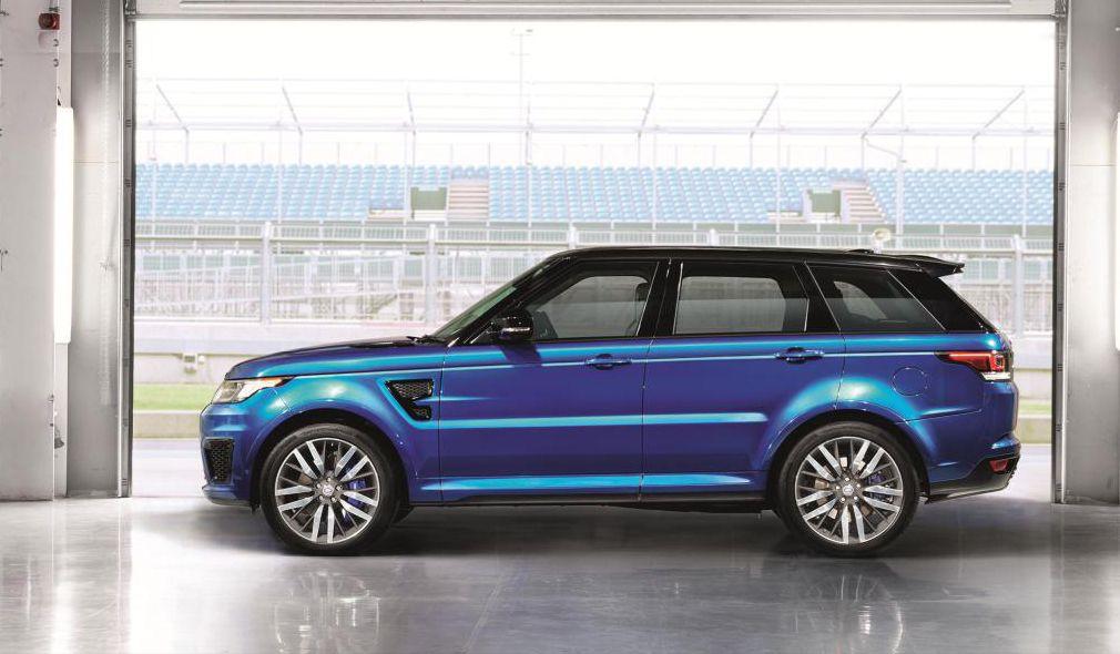 Range Rover Sport SVR blue 2016 Range Rover Range