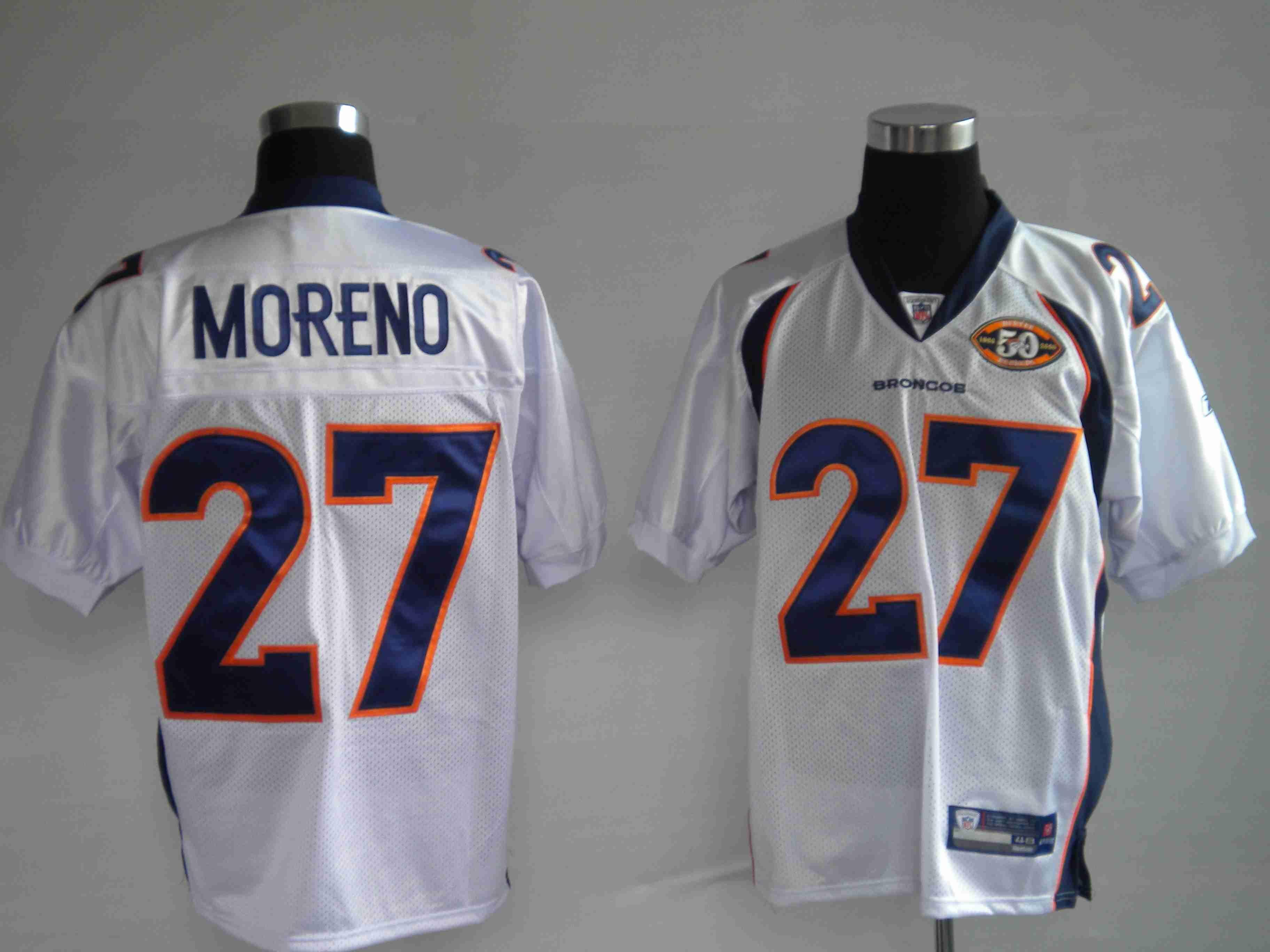 cheaper 467e9 e33d3 $25.00 50Th Reebok NFL Jersey Denver Broncos Knowshon Moreno ...