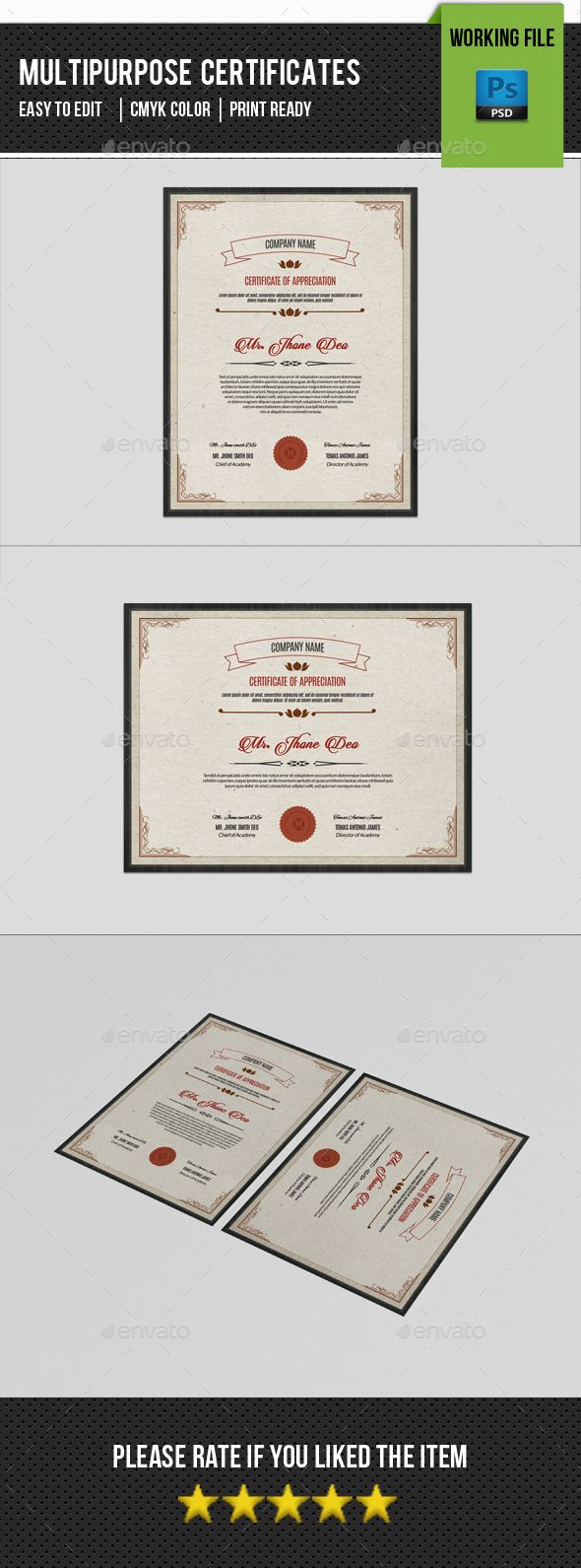 Multipurpose Certificate Template-V01