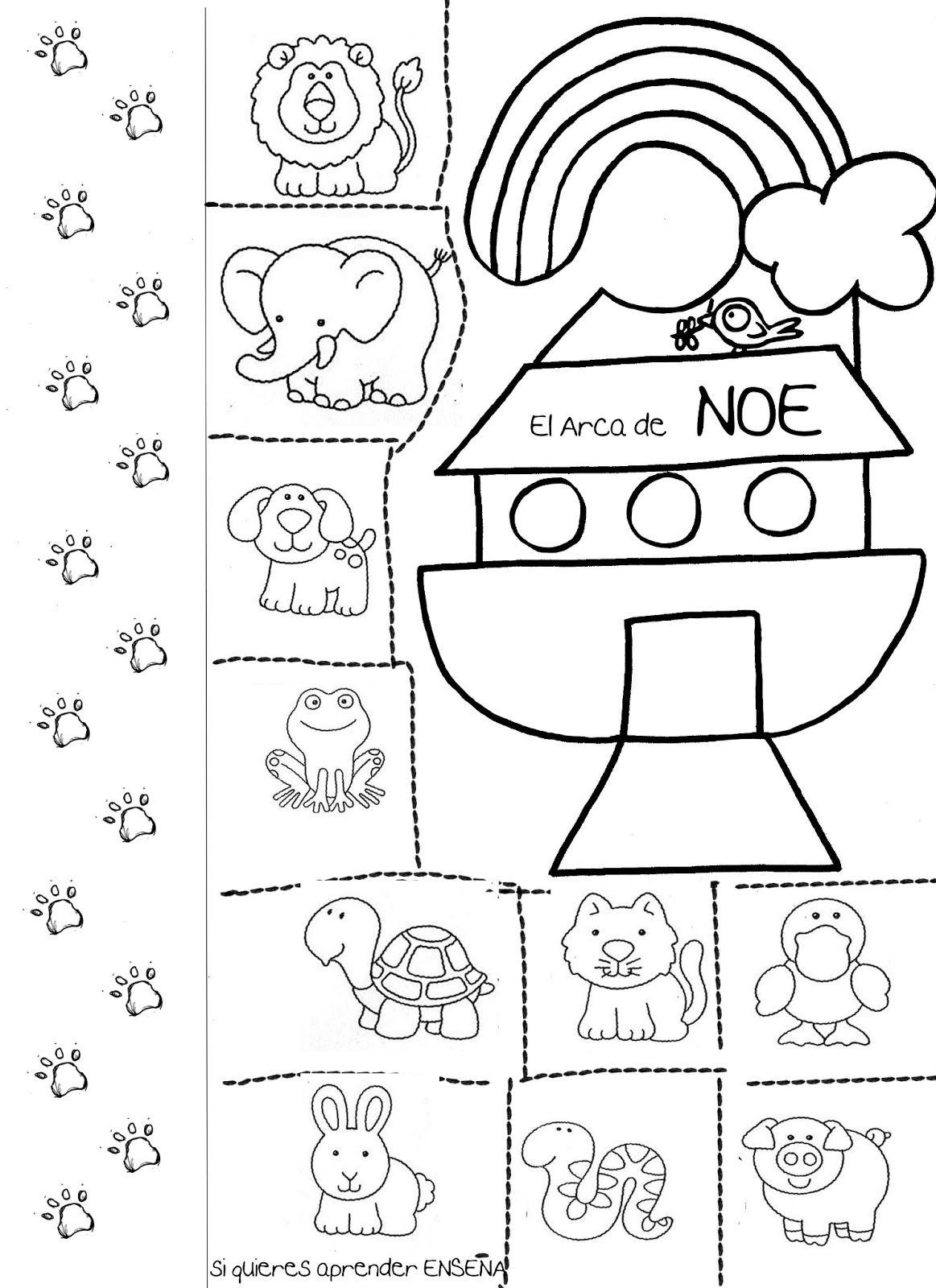 Resultado de imagen de actividades de noe para infantil | Para niños ...
