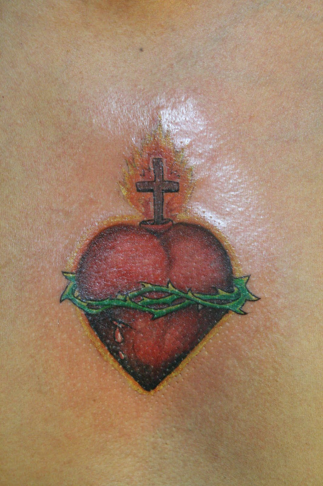 Sacred Heart Cross Tattoos The Sacred Heart Is Often Depicted In