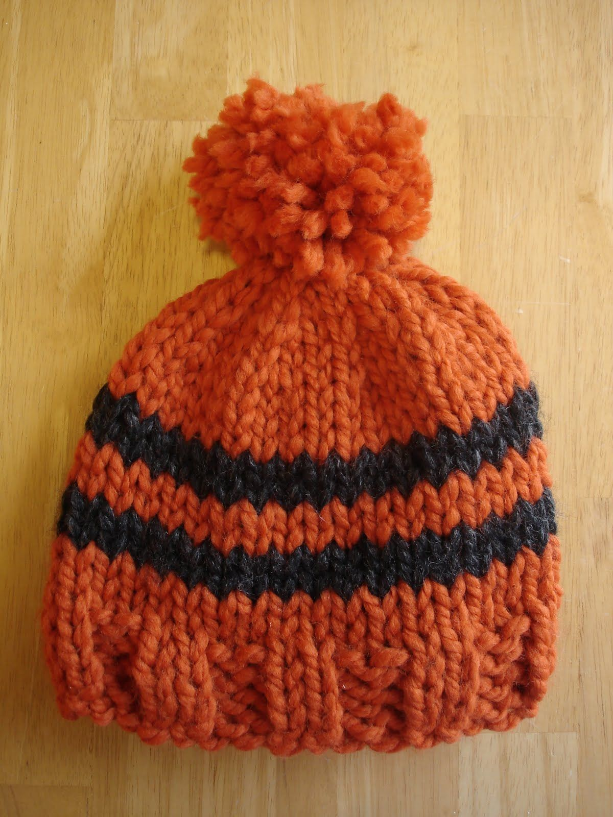 Free Knitting Pattern! Toddler Rugby Hat... | Pinterest | Knit hats ...