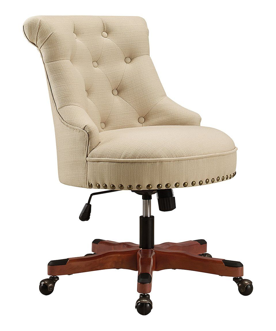 Take a look at this Beige Tufted Sinclair Office Chair