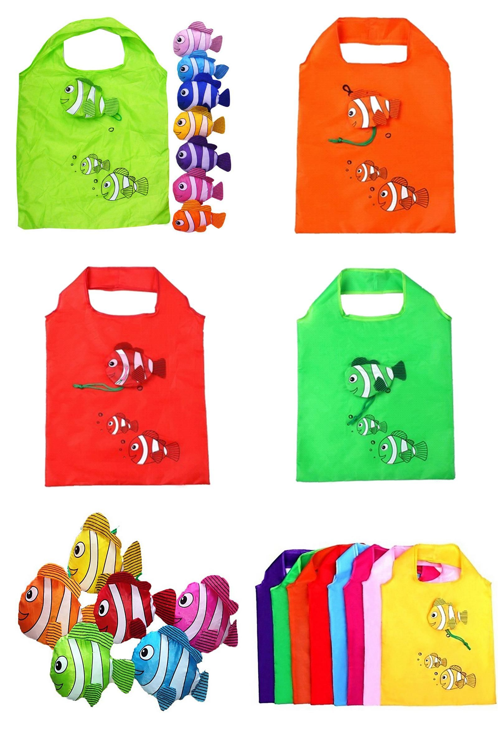 Visit to Buy] Cute Candy Color Special Purpose Bag Reusable Fish ...