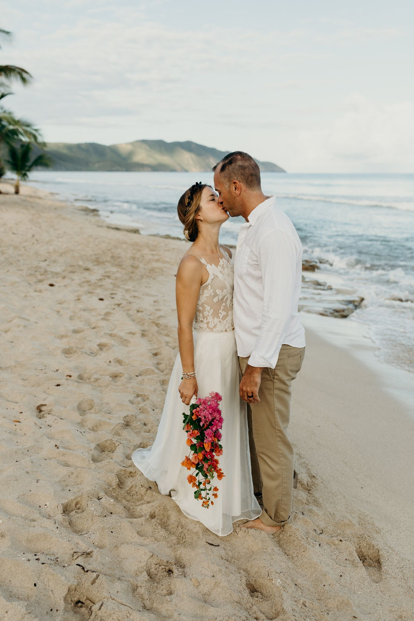 Intimate, Romantic Beach Elopement on St. Croix in the US