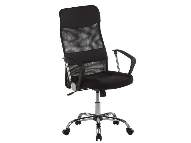 Fauteuil de bureau lena coloris noir vente de fauteuil de bureau