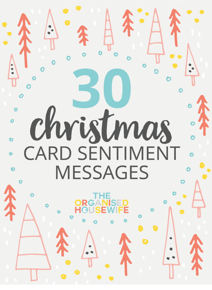 30+ CHRISTMAS CARD SENTIMENT MESSAGES Christmas card